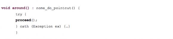 Exemplo simples de utilização do tipo de conselho around().