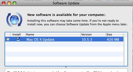 Update do Mac OS 10.5.3