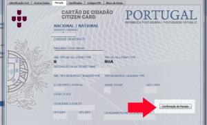 Para confirmar a morada, é necessário esperar pelo código de confirmação da morada que é enviado por correio e depois abrir a Aplicação do Cartão do Cidadão.