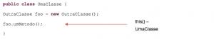 Diferença entre this() e target().