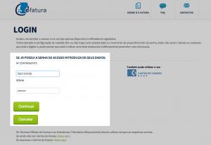 Login Portal e-Fatura